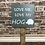Thumbnail: Love Me, Love My Hedgehog Wooden Sign. Different colours available