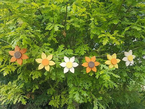 Autumn Wooden Flower Bunting