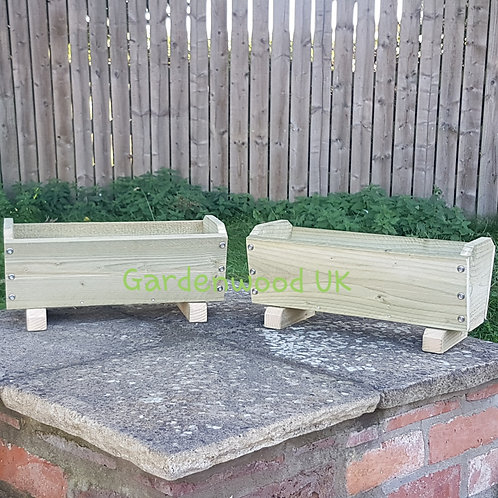 2x 450mm Rustic Troughs with Feet