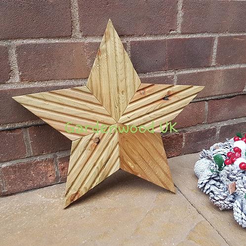 Handmade Rustic Wooden Star (Repurposed Decking)