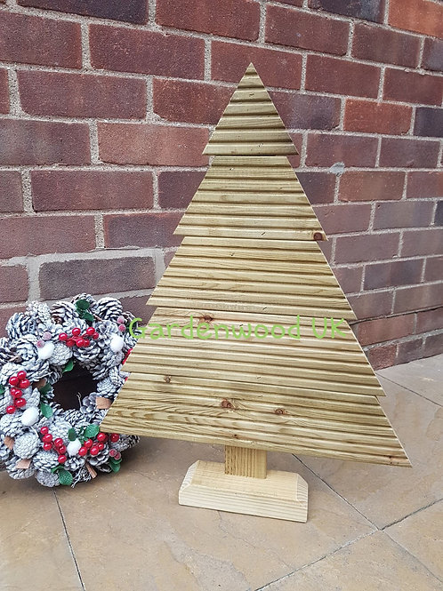 Large Handmade Rustic Wooden Christmas Tree (Repurposed Decking)
