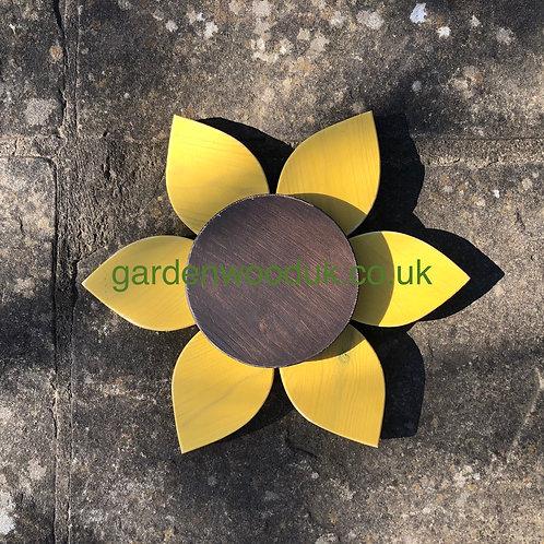Single 30cm Wooden Sunflower