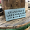 Thumbnail: Handmade Wooden Personalised Greenhouse Sign. Different colours available.
