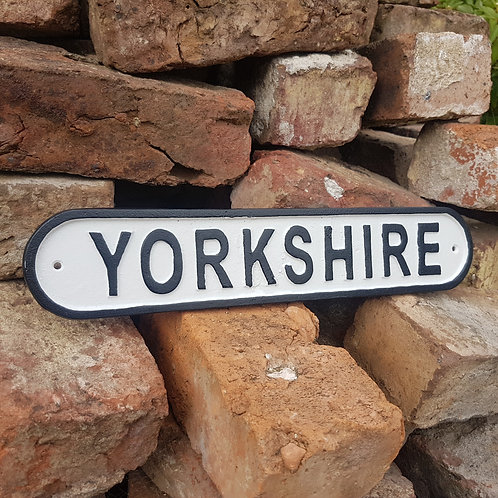 Yorkshire Cast Iron Sign