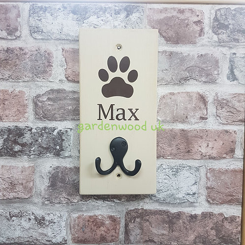 Cream Dog Lead Holder - different colour lettering available