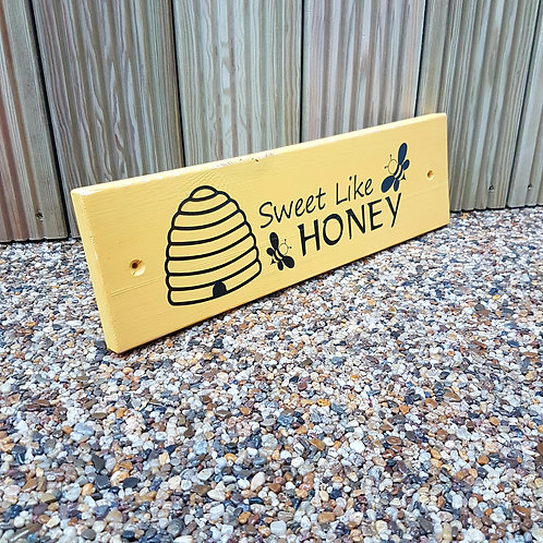 Bee and Honey Garden Sign. Different colours available.
