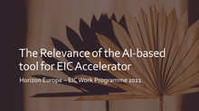 AI-based tool for EIC Accelerator: the rationale behind it.