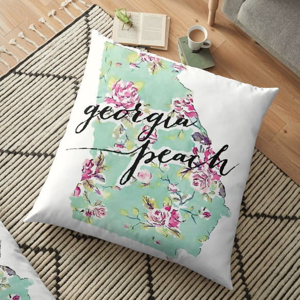 Georgia Peach Pillow