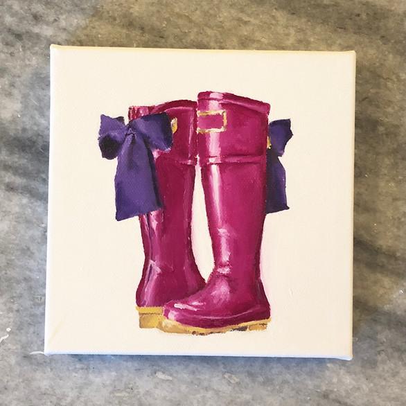 Magenta Rainboots