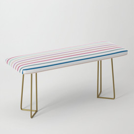 Brite Stripes Bench designed by Lexi Brite and available on Society6.