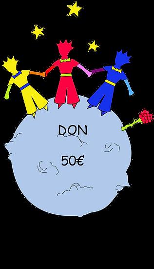 Don 50 €