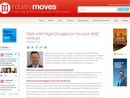 Q&A with Nigel Douglas on his post ANZ venture