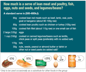 Blog 1 by Nina Mills on food groups and serve sizes - proteins and dairy