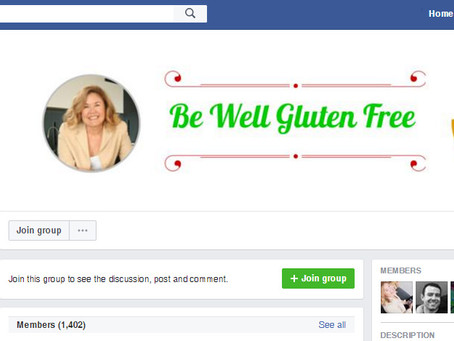 Introduction blog for the Be Well Gluten Free closed Facebook group