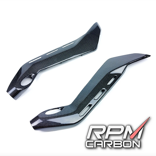 DUCATI PANIGALE V4 CARBON FIBER SUB-FRAME COVERS PROTECTORS NORMAL VERSION