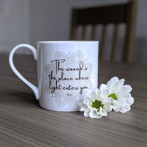 Self Growth quote mug - Dharma range - Light