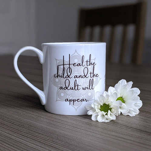Self Growth quote mug - Dharma range - Heal