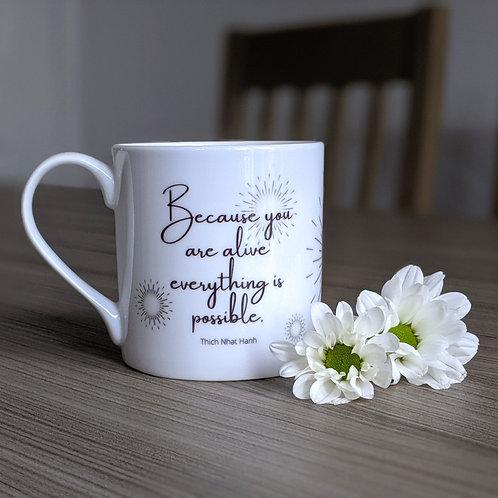 Inspiring quote mug - Odyssey range - Possible