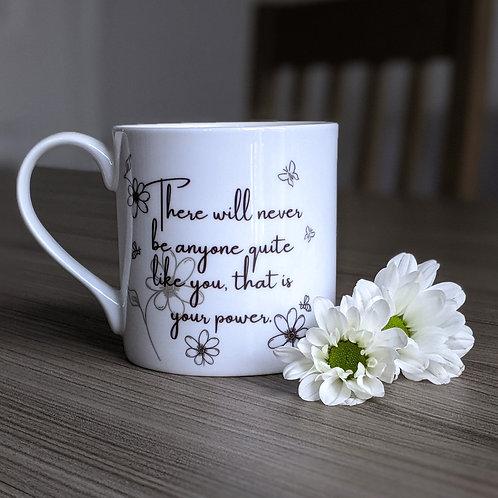 Motivation quote mug - Aspire range - Power