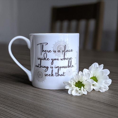 Inspiring quote mug - Odyssey range - Seek