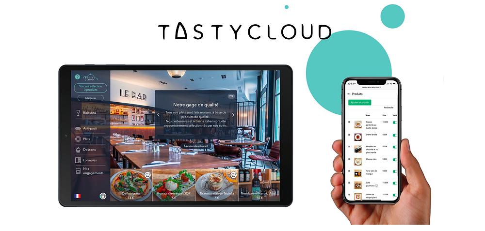 TastyCloud, la solution de menus digitaux livrée clef en main