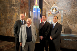 GB with Billy Ripken Tommy Lasorda and Matt Bourne of MLB _ Empire State Building