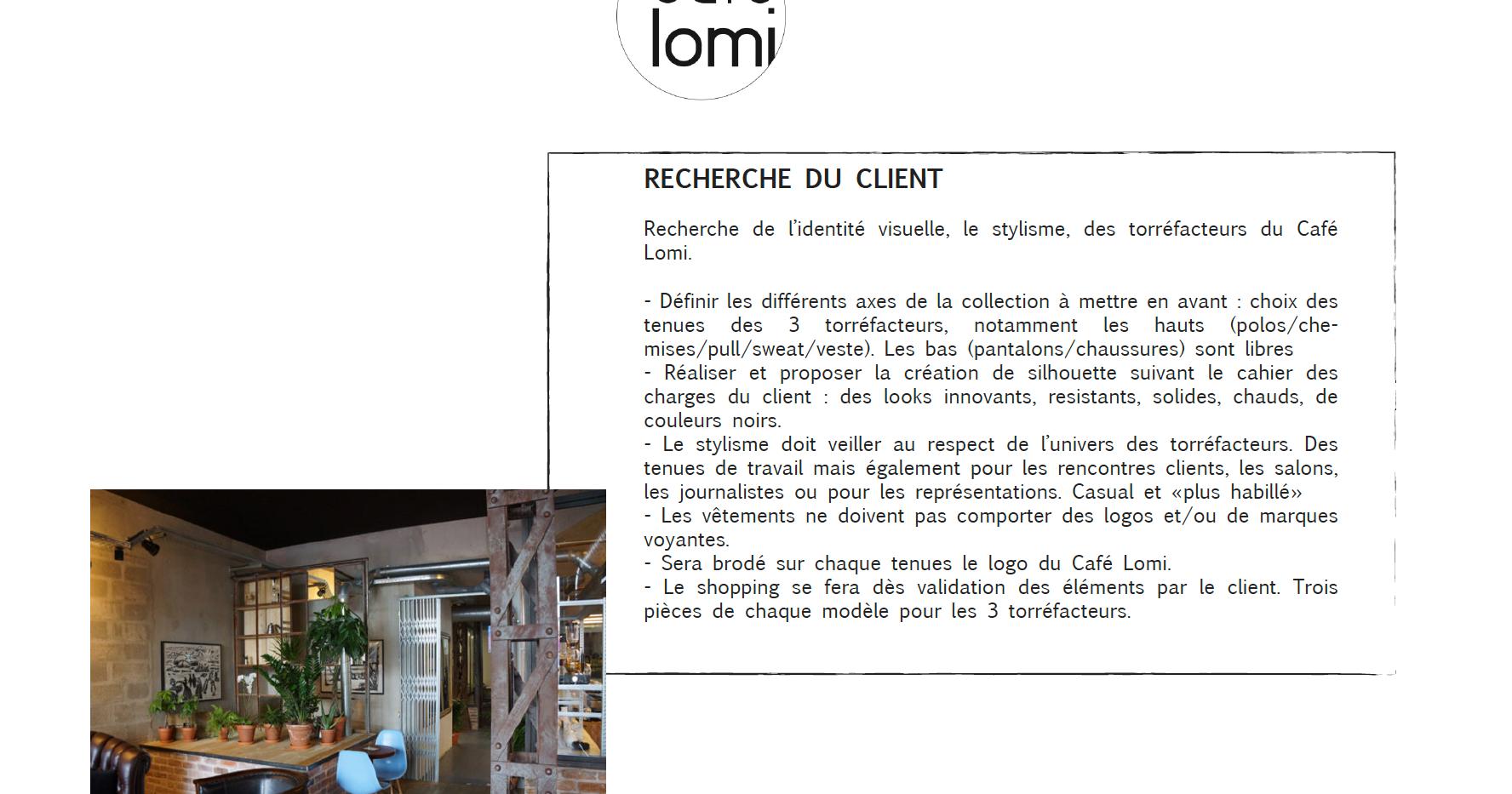 Identitée visuelle Café Lomi
