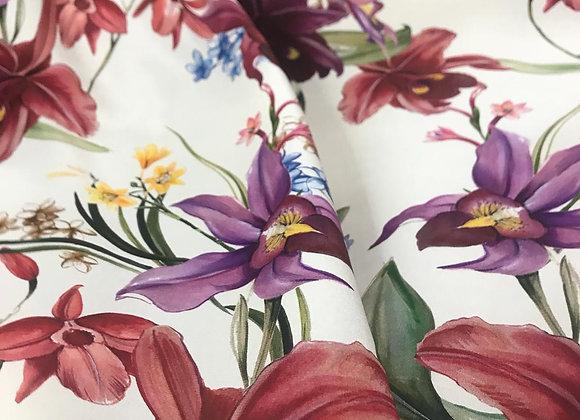 Raso di seta fioritura