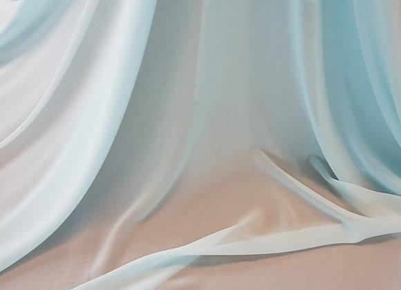 Scampolo 3mt crepe poliestere Celeste