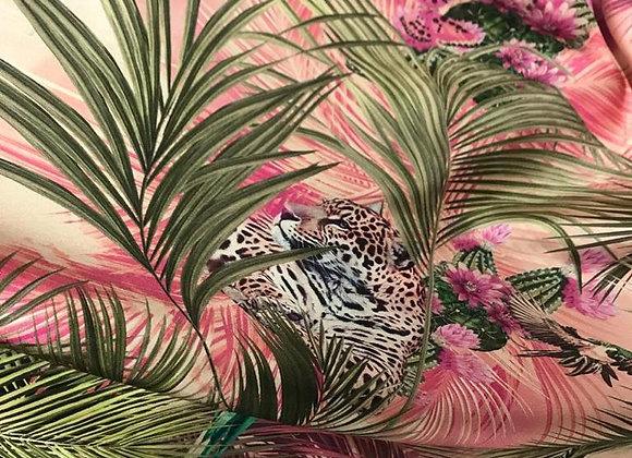 Twill di seta tiger rose
