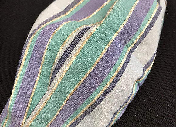 Mascherina broccato water stripes