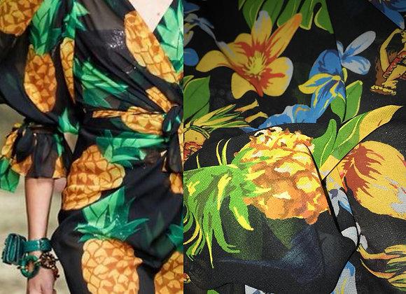 Scampolo chiffon ananas