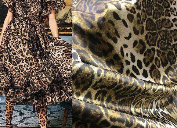 Raso di seta Leopard