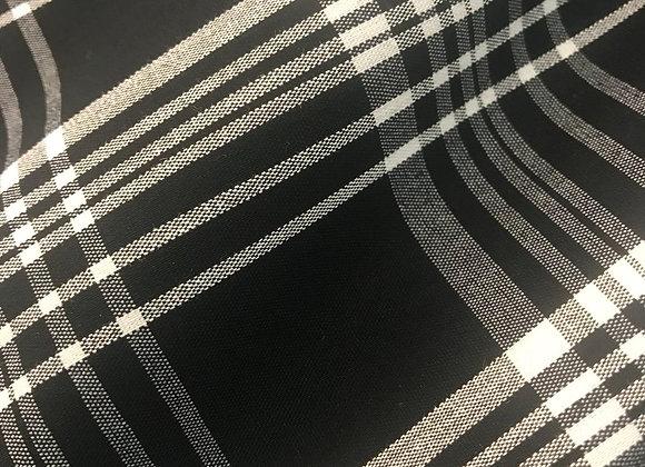 Cotone scozzese bianco e nero
