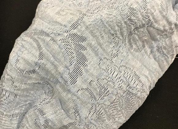 Mascherina broccato lurex polvere