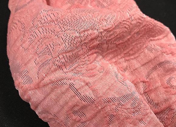 Mascherina broccato lurex rosa