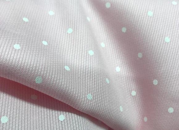 Piquet di cotone pois rosa