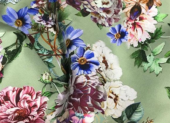 Twill di seta prato fiorito