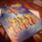 """""""4 Ever"""" Spray paint & Paint marker on canvas by Jesse Ransome"""