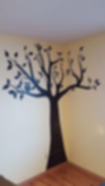 Pintrest Tree with owl, hand painted