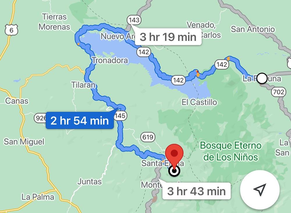 La Fortuna to Monteverde