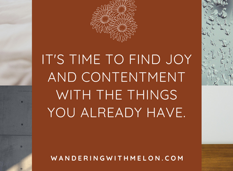 Finding Joy With What You Have