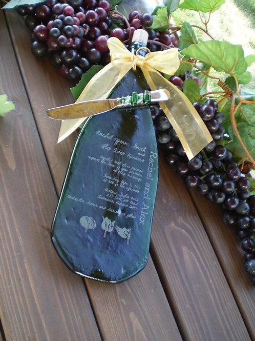 Wedding Wine bottle with knife
