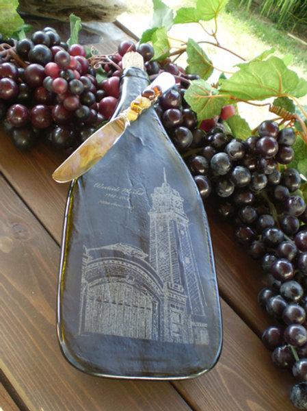 Custom Engraved Wine Bottle Cheese Tray
