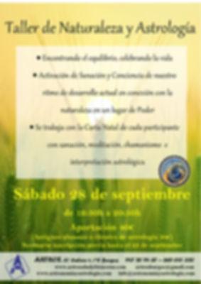 taller de naturaleza y astrologia sep. 2