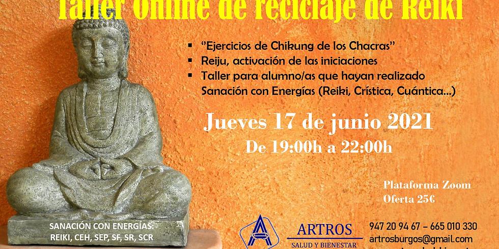 TALLER ONLINE DE RECICLAJE DE REIKI