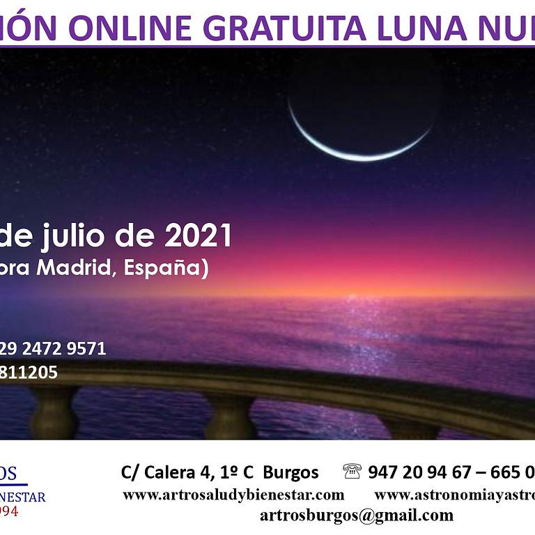 Meditación Online Gratuita Luna Nueva Julio 2021