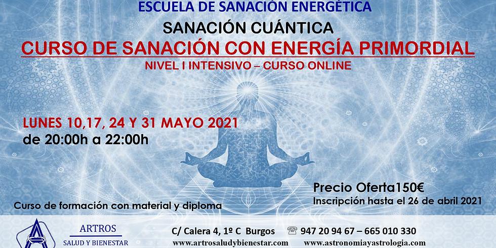 Curso Online de Sanación con Energía Primordial nivel I intensivo