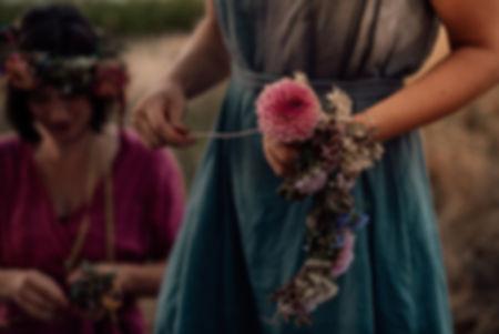 Freundinnenabend Wildling Blumenkranz bi