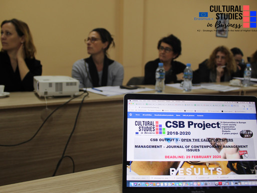 CSB Erasmus Project - updates and future steps